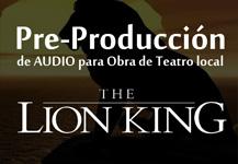 Pre-Producción – Obra Lion King