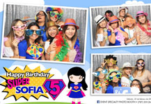 Photo Booth – Super Sophia 5 añitos