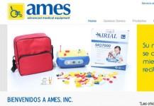 AMES, Inc. – Página de internet