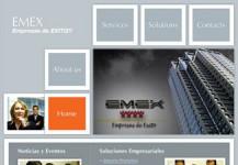 Empresas de Éxito – Página de internet