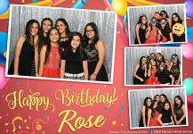 Photo Booth – Quinceañero Rose